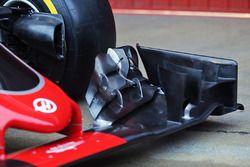 Detalle del alerón delantero del Haas VF-16