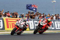 Nicky Hayden, Honda WSBK Team et Davide Giugliano, Aruba.it Racing - Ducati Team