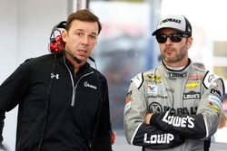 Jimmie Johnson, Hendrick Motorsports Chevrolet en hoofd techneut Chad Knaus