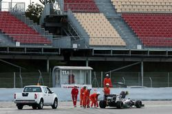 Sergio Pérez, Sahara Force India F1 VJM09 se detiene sobre el circuito