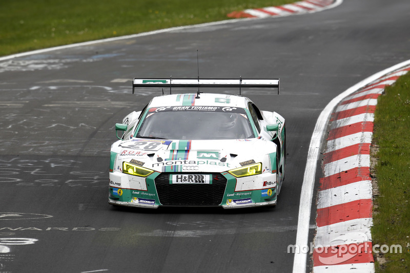 #28 Land Motorsport, Audi R8 LMS: Mike Rockenfeller, Timo Scheider, Marc Basseng, Connor de Phillipp