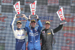 Class winners podium: GT winner Ryan Eversley, GTA winner Frankie Montecalvo, GT Cup winner Alec Udell