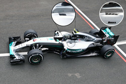 Mercedes, cockpit louvres