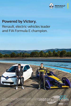 Renault FIA Formula E, poster celebrativi del titolo piloti e costruttori