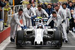 Valtteri Bottas, Williams FW38 entre dans le parc fermé