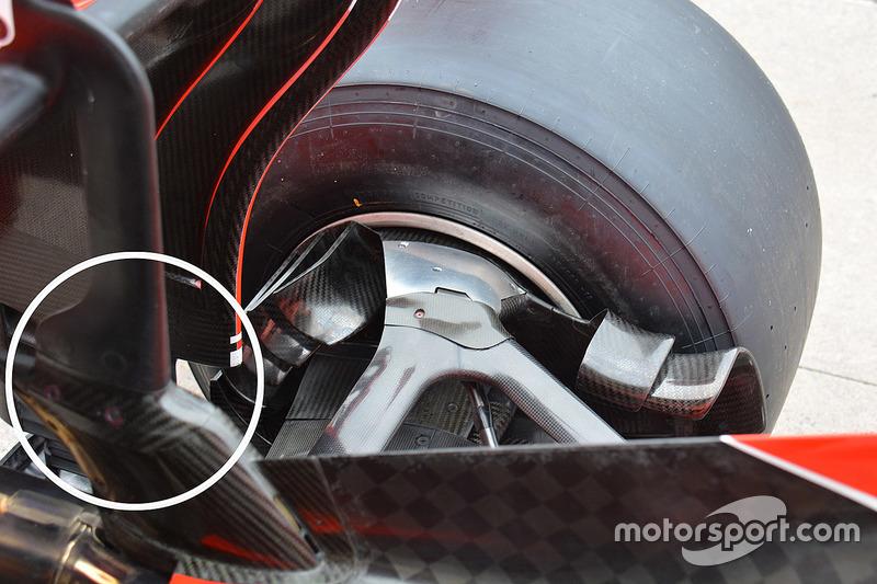 Ferrari achtervleugel detail
