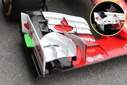 Detalle de ala delantera Ferrari SF16-H