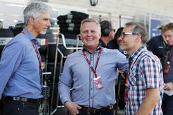 (L to R): Damon Hill, Sky Sports Presenter with Johnny Herbert, Sky Sports F1 Presenter and Jacques Villeneuve