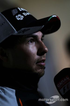 Серхио Перес, Sahara Force India F1 со СМИ