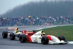 Ayrton Senna, McLaren devant Damon Hill, Williams