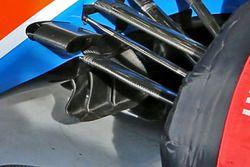 Detalle de las paletas Manor Racing MRT05 giro