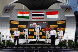 Alexander Albon, ART Grand Prix; Arjun Maini, Jenzer Motorsport and Charles Leclerc, ART Grand Prix