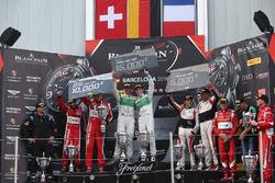 Pro-AM Podium: first place #333 Rinaldi Racing Ferrari 488 GT3: Norbert Siedler, Rinat Salikhov, sec