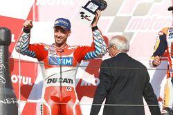 Podium : le second Andrea Dovizioso, Ducati Team