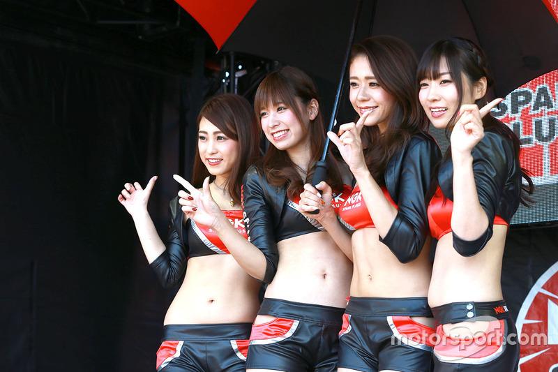 Grid girl at Japanese GP