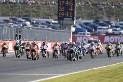 Valentino Rossi, Yamaha Factory Racing, en tête au départ