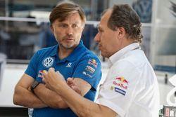 Jost Capito, Volkswagen Motorsport Director and Wilhelm Rampf