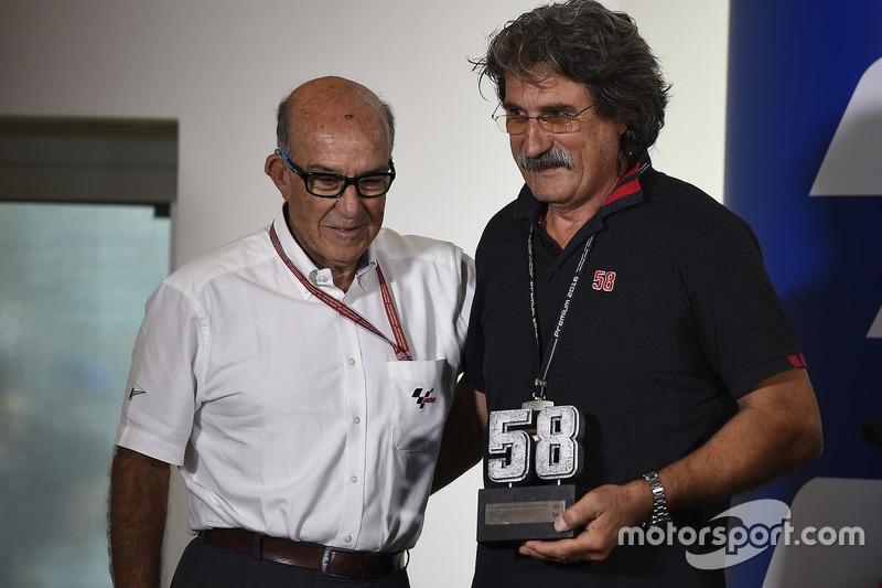 Le numéro 58 retiré du MotoGP