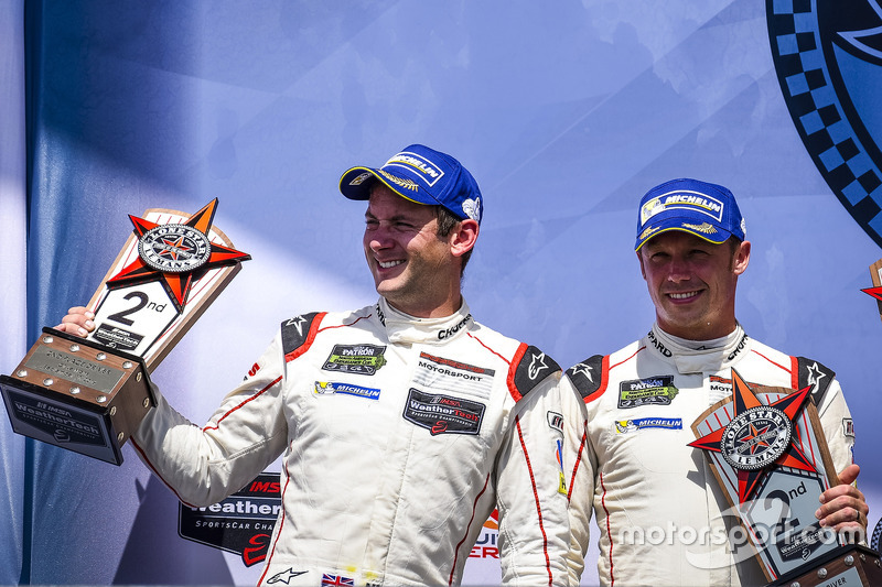 GTLM Podium: second place #911 Porsche Team North America Porsche 911 RSR: Nick Tandy, Patrick Pilet