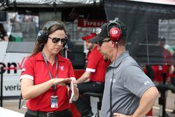 Cara Adams, Bridgestone Senior Project Engineer, Race Tire Development, Kevin Blanch, IndyCar Technical Manager