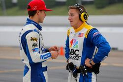 Trevor Bayne, Roush Fenway Racing Ford ve NBC sunucusu Parker Kligermann