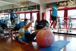 Tom Blomqvist, Augusto Farfus and Bruno Spengler Circuit Training