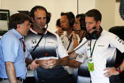 Jost Capito, McLaren Chief Executive Officer with Stoffel Vandoorne, McLaren Test and Reserve Driver