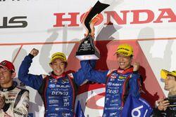 Podium GT300: race winners #61 R&D Sport Subaru BRZ: Takuto Iguchi, Hideki Yamauchi