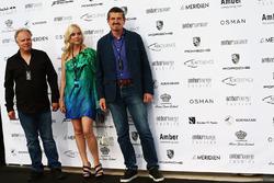 Gene Haas, Haas Automotion Presidente y Guenther Steiner, director del equipo de Haas F1 en el Amber