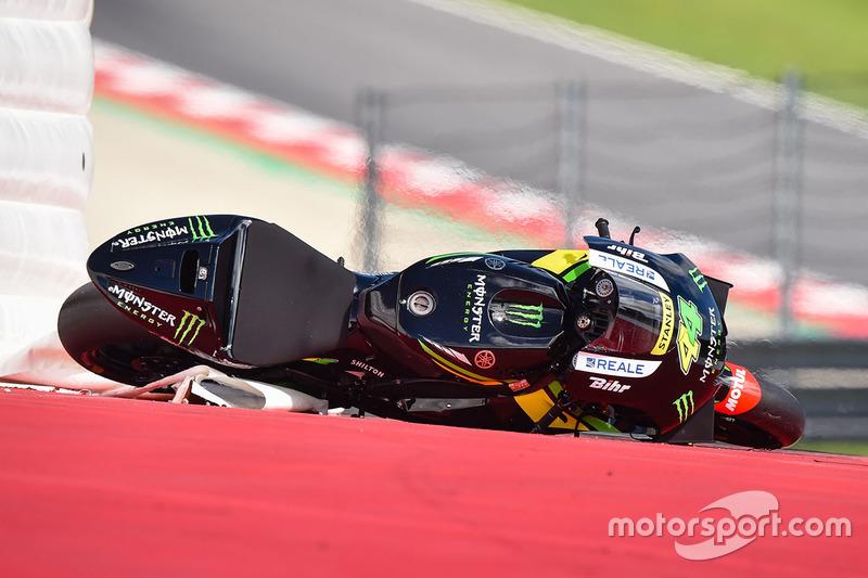 La moto di Pol Espargaro, Tech 3 Yamaha dopo la caduta