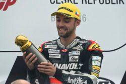 Podium: race winner Jonas Folger, Dynavolt IntactGP