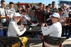 Louis Deletraz, Fortec Motorsports y Pietro Fittipaldi, Fortec Motorsports