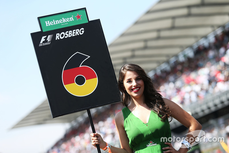 La grid girl di Nico Rosberg, Mercedes AMG F1