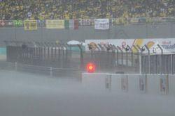 Forte pluie à Sepang