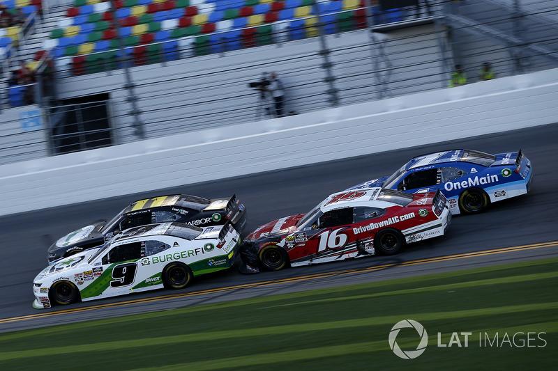 Tyler Reddick, JR Motorsports Chevrolet Camaro, Ryan Reed, Roush Fenway Racing Ford Mustang, Ryan Tr
