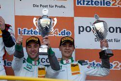 Podium: third place #28 Montaplast by Land-Motorsport Audi R8 LMS: Sheldon van der Linde, Kelvin van
