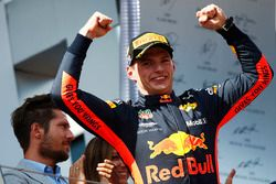 Podium: race winner Max Verstappen, Red Bull Racing
