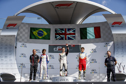 Podium: second place Pedro Piquet, Trident, winner Jake Hughes, ART Grand Prix, third place Leonardo Pulcini, Campos Racing