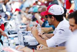 Lucas di Grassi, Audi Sport ABT Schaeffler, signs an autograph
