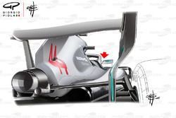 Mercedes AMG F1 W09 mirror back view