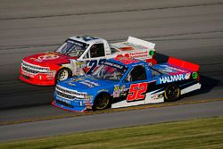 Stewart Friesen, Halmar Friesen Racing, Chevrolet Silverado We Build America and Austin Self, AM Racing, Chevrolet Silverado GO TEXAN