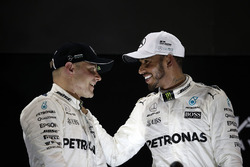 Podium: race winner Valtteri Bottas, Mercedes AMG F1, second place Lewis Hamilton, Mercedes AMG F1