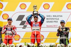 Podium: race winner Andrea Dovizioso, Ducati Team, second place Jorge Lorenzo, Ducati Team, third pl