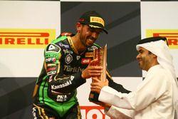 Podium: third place Kenan Sofuoglu, Kawasaki Puccetti Racing