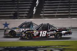 Ryan Truex, Hattori Racing Enterprises Toyota, Noah Gragson, Kyle Busch Motorsports Toyota
