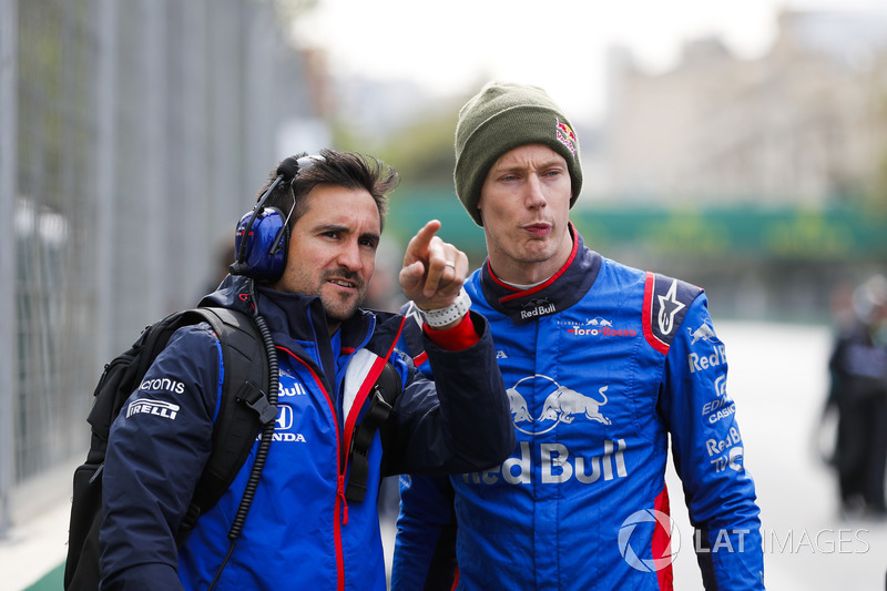 Brendon Hartley, Toro Rosso, in griglia con un collega