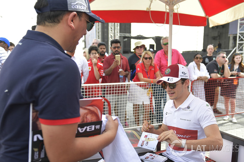 Charles Leclerc, Sauber at the autograph session