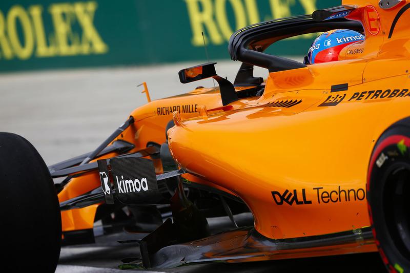 Область дефлекторов на McLaren MCL33 Renault