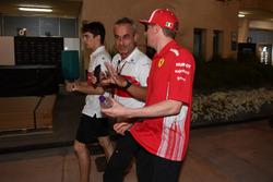 Beat Zehnder, Sauber Manager and Kimi Raikkonen, Ferrari