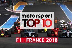 Le top 10 du GP de France